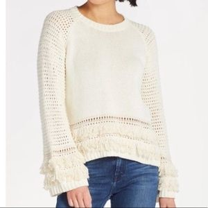 Chaser Fringe Pullover Cotton Knit Sweater